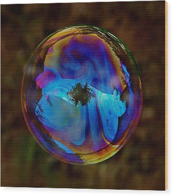 Crystal Bubble Wood Print by Marilynne Bull