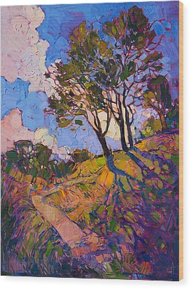 Crystal Clouds Wood Print by Erin Hanson
