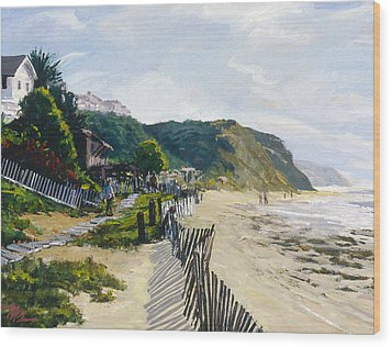 Crystal Cove Afternoon Wood Print by Mark Lunde