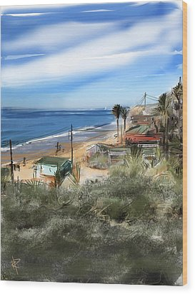 Crystal Cove Wood Print