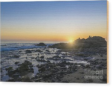 Wood Print featuring the photograph Crystal Cove Sunset by Anthony Baatz