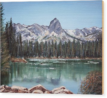 Crystal Crag From Twin Lakes Mammoth Ca Wood Print by Arline Wagner
