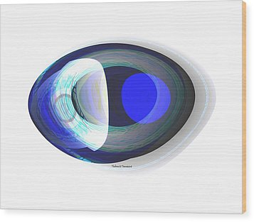 Crystal Eye Wood Print by Thibault Toussaint