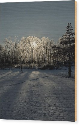 Crystal Glow Wood Print by Annette Berglund