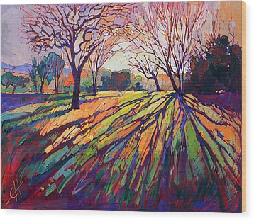 Crystal Light Wood Print by Erin Hanson