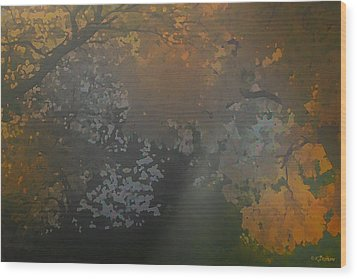 Crystal Tree Top Wood Print by Kat Besthorn