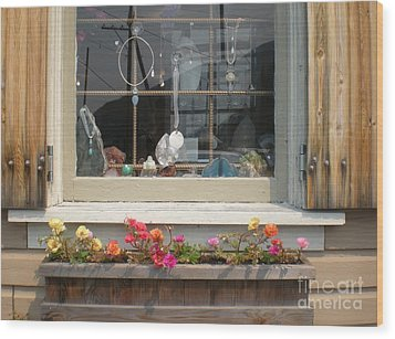 Wood Print featuring the photograph Crystal Window by Kim Prowse