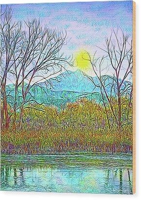 Crystalline Twilight Reflections - Boulder County Colorado Wood Print by Joel Bruce Wallach