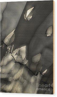 Falling Crystals Wood Print by Olimpia - Hinamatsuri Barbu