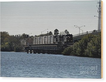 Wood Print featuring the photograph Csx Over The Alafia by John Black