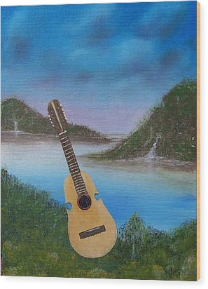 Cuatro Wood Print by Tony Rodriguez