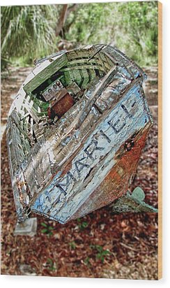 Cuban Refugee Boat 3 The Mariel Wood Print