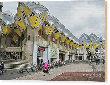 Wood Print featuring the photograph Cube Houses In Rotterdam by RicardMN Photography