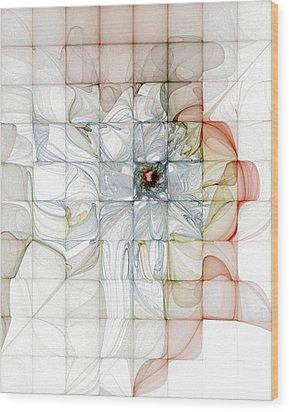 Cubed Pastels Wood Print by Amanda Moore