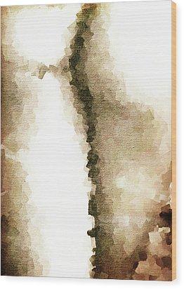 Cubist Back Wood Print by Andrea Barbieri