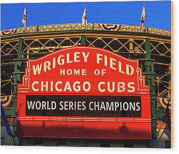 Cubs Win World Series Wood Print