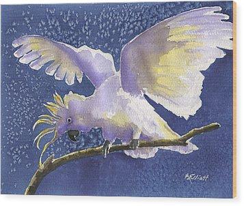 Cuckoo Cockatoo Wood Print