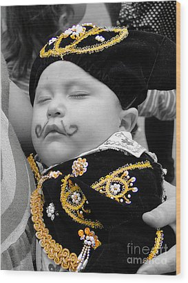 Cuenca Kids 891 Wood Print by Al Bourassa