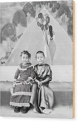 Wood Print featuring the photograph Cuenca Kids 896 by Al Bourassa