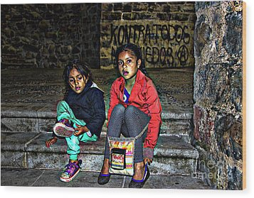 Cuenca Kids 953 Wood Print by Al Bourassa