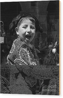 Cuenca Kids 954 Wood Print by Al Bourassa