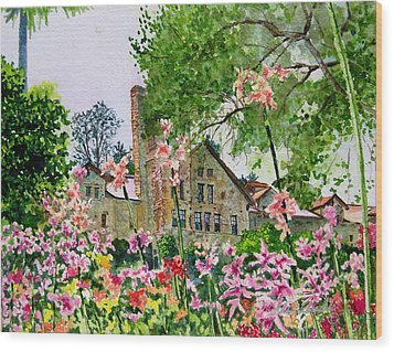 Culinary Institute At Greystone Wood Print by Gail Chandler