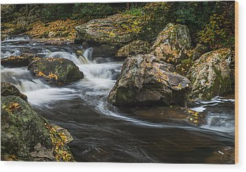 Cullasaja River Wood Print by Rick Dunnuck