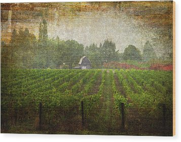 Cultivating A Chardonnay Wood Print by Jeffrey Jensen