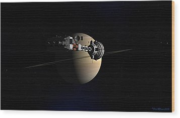 Wood Print featuring the digital art Cumberland At Saturn by David Robinson