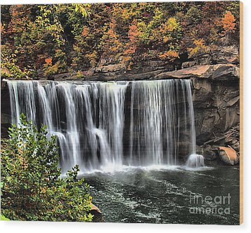Wood Print featuring the photograph Cumberland Falls Three by Ken Frischkorn