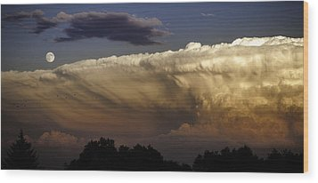 Cumulonimbus At Sunset Wood Print by Jason Moynihan