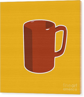Cup Of Coffee Graphic Image Wood Print by Pixel Chimp