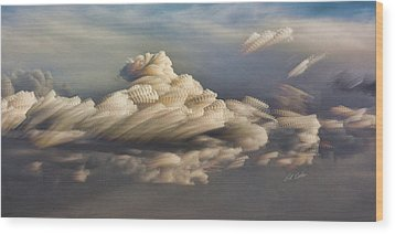 Cupcake In The Cloud Wood Print by Bill Kesler