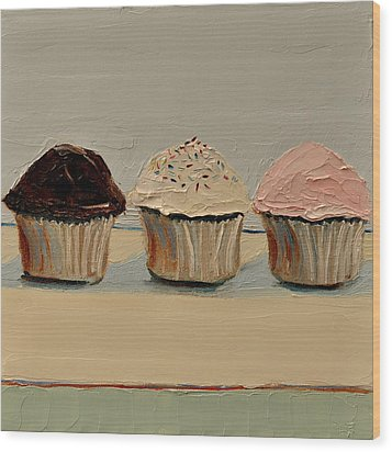 Cupcake Wood Print by Lindsay Frost