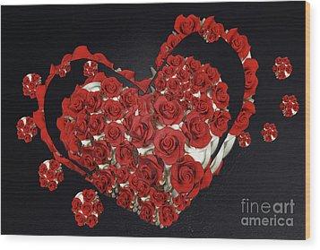 Cupcake Love Wood Print by Afrodita Ellerman