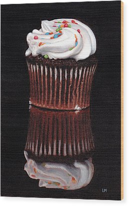 Cupcake Reflections Wood Print