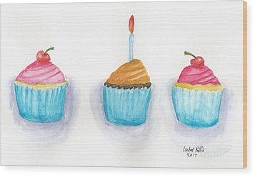 Cupcakes?  Wood Print by Isabel Proffit