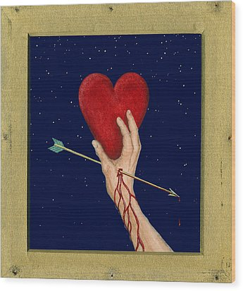 Cupids Arrow Wood Print by Charles Harden