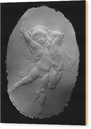 Wood Print featuring the relief Cupids by Suhas Tavkar