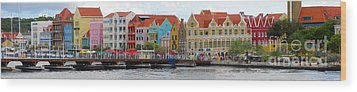 Curacao Willemstad Panorama Wood Print