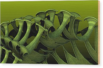 Curling Up Wood Print