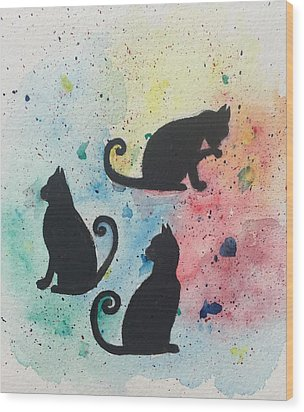 Curly Tails Wood Print