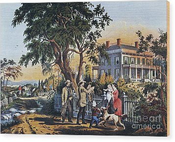 Currier: Country Life Wood Print by Granger