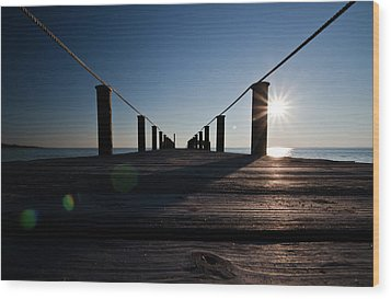 Wood Print featuring the photograph Currituck Sunset by David Sutton