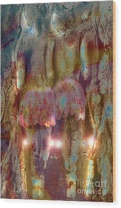 Wood Print featuring the digital art Curtain Call by Gabrielle Schertz