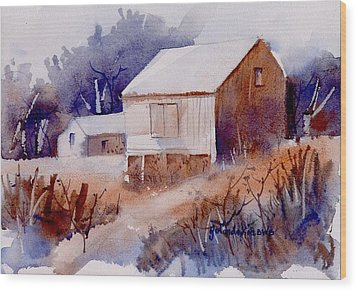 Wood Print featuring the painting Curtis Farm In Ellicott City by Yolanda Koh