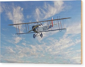 Curtiss Jn-4h Biplane Wood Print by Jerry Fornarotto