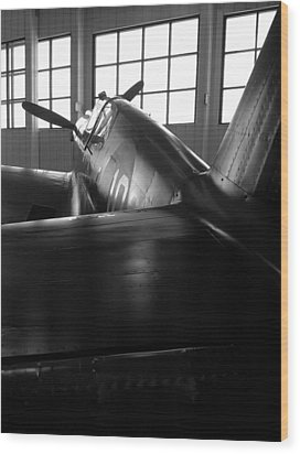Wood Print featuring the photograph Curtiss P-40 by Rebecca Davis