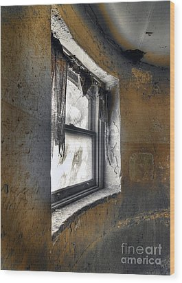 Curved Wall Window Wood Print by Norman Andrus