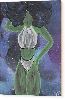 Curves Out Of This World Wood Print by Cyrionna The Cyerial Artist